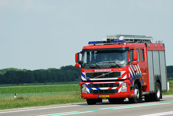 Heino fire department visits the factory